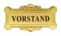 """Broschennadel """"Vorstand"""" - Farbe - gold"""