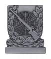 Meisterschaftabzeichen Gewehr - Ausführung - altsilber