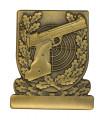 Meisterschaftsabzeichen Sportpistole - Farbe - bronze