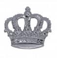 Krone mit Splint - Farbe - silber