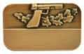 Meisterschaftabzeichen Sportpistole - Ausführung - bronze