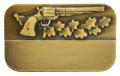 Meisterschaftabzeichen Revolver - Ausführung - bronze