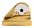 """Meisterschaftsabzeichen """"Gewehr mit Eichenlaub"""" - Farbe - gold"""