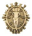 "Abzeichen ""St. Sebastian"" - Farbe - altgold"