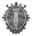 "Abzeichen ""St. Sebastian"" - Farbe - altsilber"