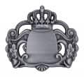 Königsabzeichen 7 mit Magnet - Farbe - altsilber