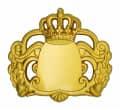 Königsabzeichen 7 mit Magnet - Farbe - gold