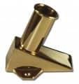 Fahnenstangenhalter für den Boden - Ausführung - Messing poliert