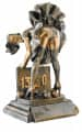 Trophäe Boule mit Frau FS52645 bronze