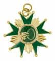 Schützenorden Stern - Farbe - gold/grün
