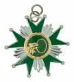 Schützenorden Stern - Farbe - silber/grün