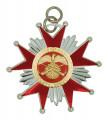 Schützenorden Stern - Farbe - silber/rot