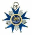 Schützenorden Stern - Farbe - silber/blau
