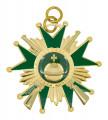 Schützenorden Stern mit Gewehren - Ausführung - gold/grün