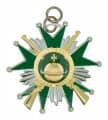 Schützenorden Stern mit Gewehren - Ausführung - silber/grün