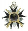 Schützenorden Stern mit Gewehren - Ausführung - silber/schwarz