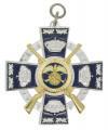 Königsorden mit Gewehren - Farbe des Ordens - silber/blau