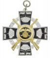 Königsorden mit Gewehren - Farbe des Ordens - silber/schwarz