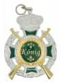 Königsorden mit Gewehren - Farbe des Ordens - silber/grün