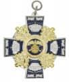 Königsorden mit Eichenlaub - Farbe des Ordens - silber/blau