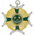 Schützenorden mit Kronen - Ausführung - silber/grün