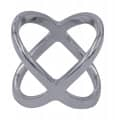 Halstuchring - Farbe - Silber