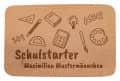 """Frühstücksbrettchen """"Schulstarter"""" mit individueller Namensgravur"""
