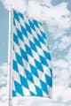 Bayernfahne für Ausleger ohne Wappen (Raute)