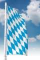 Bayernfahne ohne Wappen (Raute)