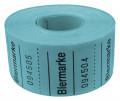 Rollenbons Biermarken 3x3cm 500 Abrisse - Farbe - blau