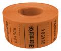 Rollenbons Biermarken 3x3cm 500 Abrisse - Farbe - orange