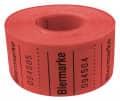 Rollenbons Biermarken 3x3cm 500 Abrisse - Farbe - rot