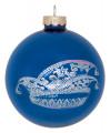Christbaumkugel mit Narrenkappe - Farbe - blau