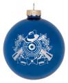 Christbaumkugel mit Schützenmotiv - Farbe - blau