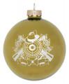 Christbaumkugel mit Schützenmotiv - Farbe - gold