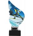 Acryltrophäe Skilanglaufen