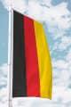 Deutschlandfahne - Hissfahne Längststreifen für Querausleger