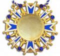 Karnevalsorden - Ehrenstern mit Schmucksteinen - Farbe - blau-weiß-gold