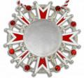 Karnevalsorden - Ehrenstern mit Schmucksteinen - Farbe - rot-weiß-silber