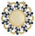 Karnevalsorden - Ehrenorden mit Schmucksteinen - Farbe - blau-weiß-gold