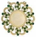 Karnevalsorden - Ehrenorden mit Schmucksteinen - Farbe - grün-weiß-gold