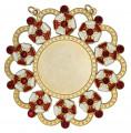 Karnevalsorden - Ehrenorden mit Schmucksteinen - Farbe - rot-weiß-gold