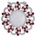 Karnevalsorden - Ehrenorden mit Schmucksteinen - Farbe - rot-weiß-silber