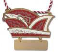 Karnevalsorden Narrenkappe mit Gravurschild - Farbe - rot-weiß