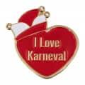 """Herzpin """"I Love Karneval"""" - Farbe - rot"""