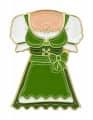 """Oktoberfestpin """"Dirndl"""" - Farbe - grün"""