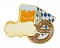 """Okotoberfestpin """"Brezel und Bier"""" mit Gravurfläche"""