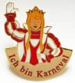 """Ich bin Karneval"" - Prinzessin - Farbe - rot-weiß"
