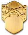 Schützenabzeichen 3 - Ausführung - altgold