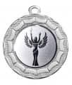 "Danke Medaille ""Eurybia"" Ø 40 mm inkl. Wunschemblem und Kordel - Farbe - silber"